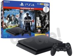 Produkt z Outletu: Sony PlayStation 4 Slim 500GB + Horizon Zero Dawn + Uncharted 4 + The Last Of Us