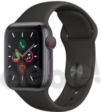 Produkt z Outletu: Apple Watch Series 5 40 mm GPS + Cellular Sport (czarny)