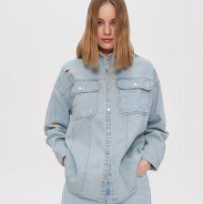 House Jeansowa koszula oversize Niebieski Ceny i  fk6fy