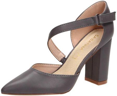 Beżowe sandały damskie na Słupku SABATINA 18 3 r38