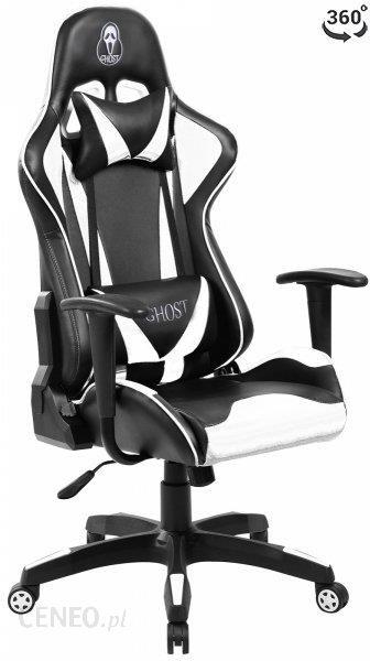 Ghost Fotel Gamingowy One Czarno Biały
