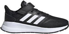 Buty dla dzieci adidas Runfalcon C czarno białe EG1583