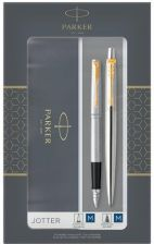 2093257 Zestaw Duo Sets Jotter Stainless Steel Gt (Pióro + Długopis) Parker