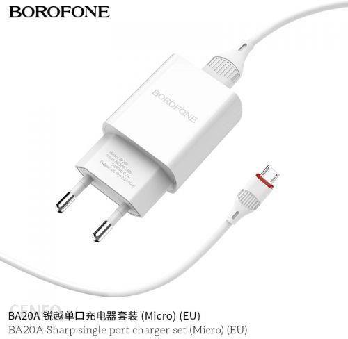 Borofone ładowarka sieciowa 10W z kablem micro USB 1m w zestawie Biały