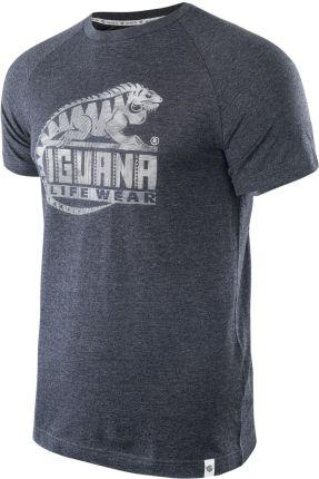 Męska Koszulka BAAKO DARK GREY MELANGE/LOGO PRINT - Ceny i opinie T-shirty i koszulki męskie UGHR