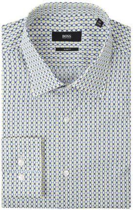 PROFUOMO Koszula lniana o kroju slim fit w kolorze Niebieski