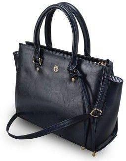 Torebka damska skórzana duża czarna torba kuferek Ceny i