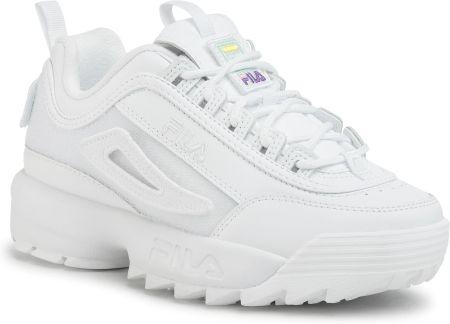 Białe Damskie Sneakersy Fila DISRUPTOR II PATCHES WMN 100