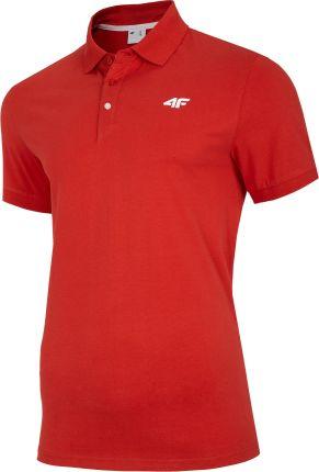 Koszulka polo 4F TSM007 - czerwona (NOSH4-TSM007-62S) - Ceny i opinie T-shirty i koszulki męskie JQRX