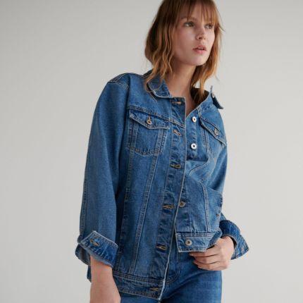 Reserved Katana jeansowa Niebieski damska Ceny i