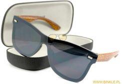 Damskie okulary przeciwsłoneczne w kwiaty 727a 13 + Etui