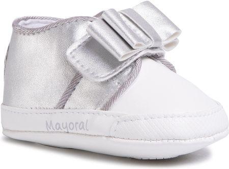 Buciki niemowlęce dla dziewczynki Baletka z haftem białe