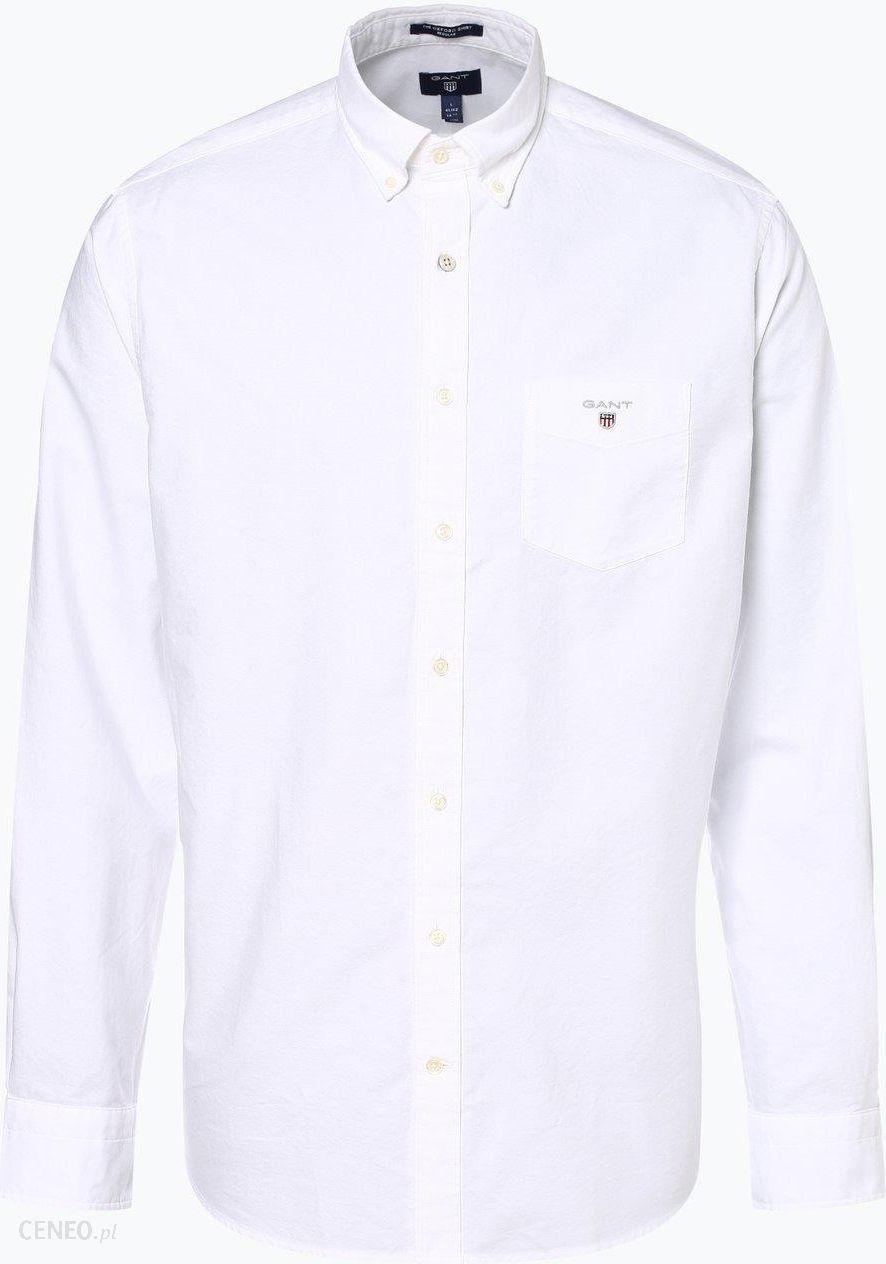 Gant Koszula męska, biały Ceny i opinie Ceneo.pl  BJE7N