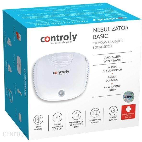 Controly Nebulizator Basic Tłokowy Dla Dzieci i Dorosłych