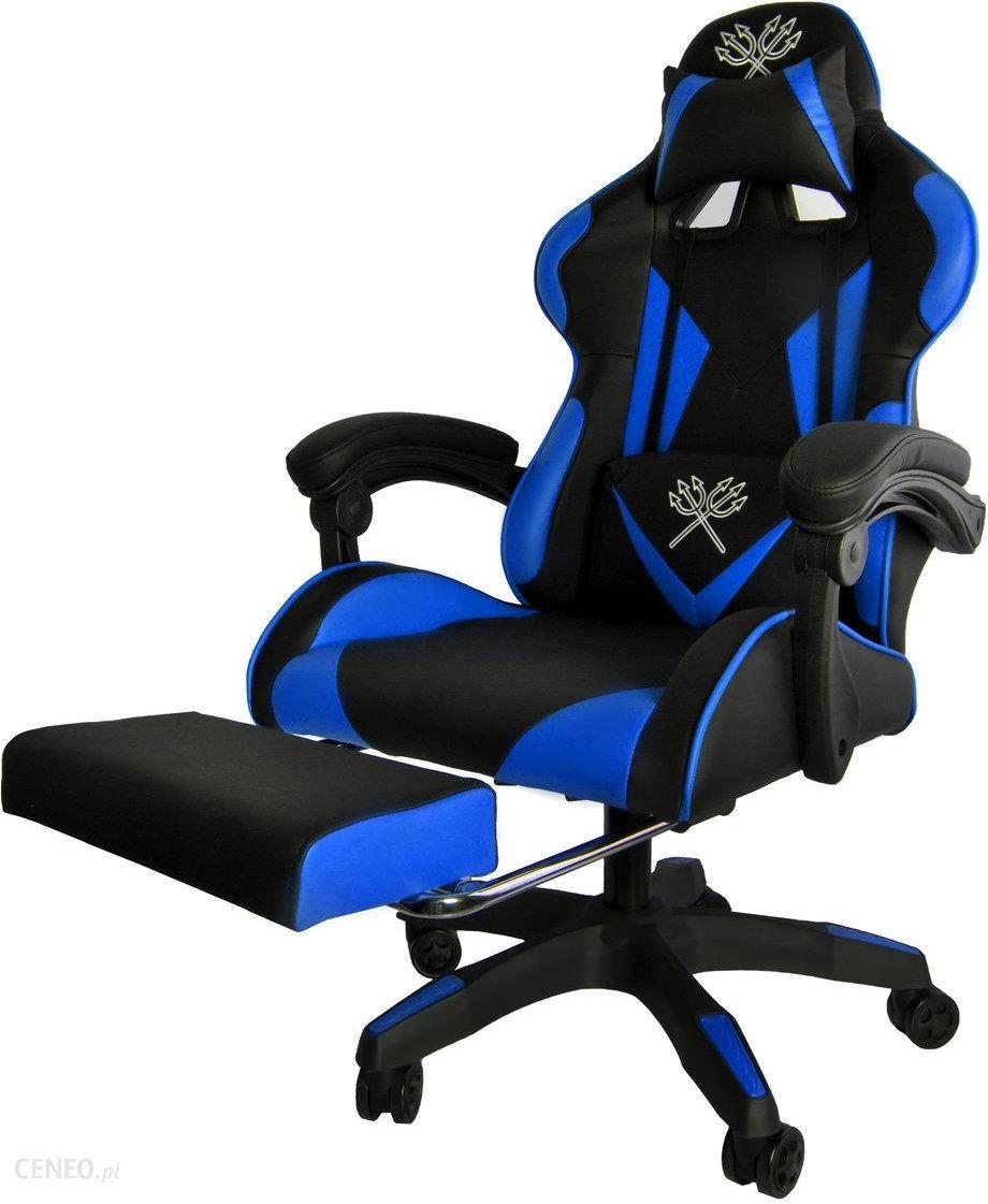 Iso Trade Fotel Gamingowy 8978, Czarno-Niebieski, 124X63X63 Cm