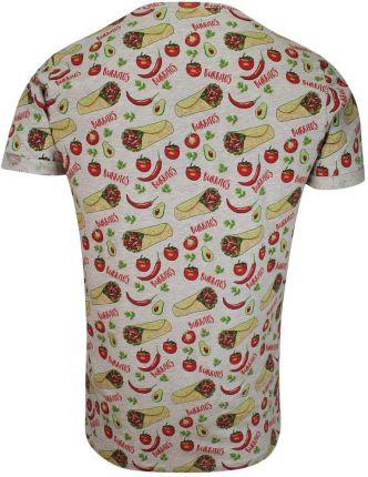 Szary Bawełniany T-Shirt Męski -Brave Soul- Koszulka, KrÓtki Rękaw, Burrito, Jedzenie, Meksyk TSBRSSS20BURRITOecruemarl - Ceny i opinie T-shirty i koszulki męskie KGDU
