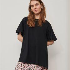 Reserved T shirt oversize z bawełny organicznej Czarny