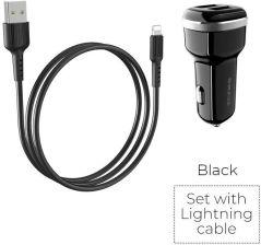 Dudao 2.4A inteligentna ładowarka samochodowa 2x USB