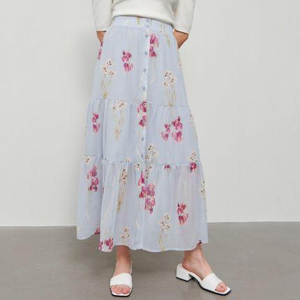 Zwiewna Długa Spódnica Maxi Boho Lato M722 Ceny i opinie