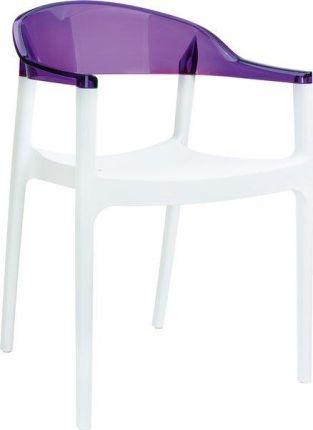 Krzesło Toma przezroczyste fioletowe