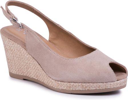 Sandały skórzane na koturnie Karino 1728074 P Ceny i