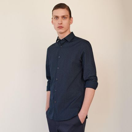 Reserved Koszula w militarnym stylu Czarny męska  agnV9