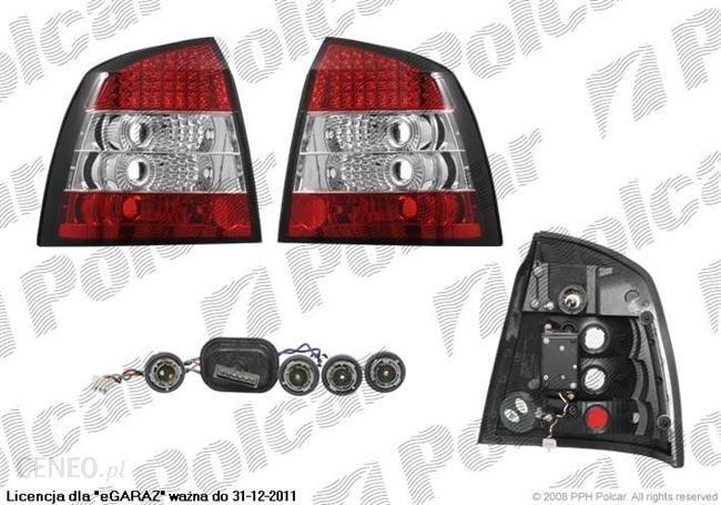 Lampa Tylna Lampy Tylne Typ żarówkiledczerwono Białakpltuningece Opel Astra G 0198 Opinie I Ceny Na Ceneopl