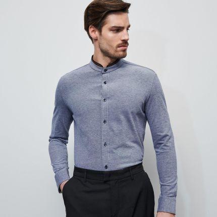 Reserved Koszula z żakardowej tkaniny Czarny Ceny i  tTJLI
