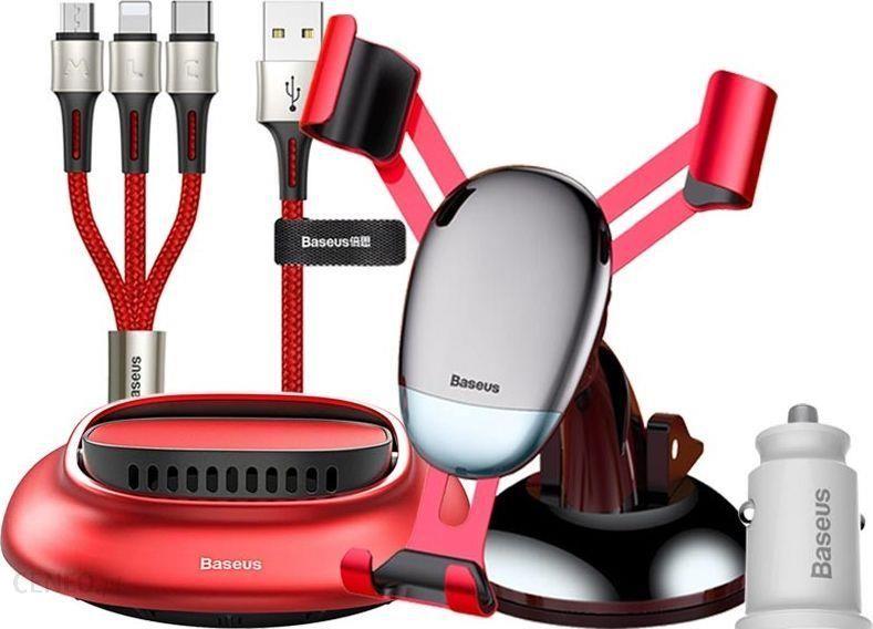 Baseus Kabel USB Baseus Z akcesoriami samochodowymi 3w1 (TZNEW19A)