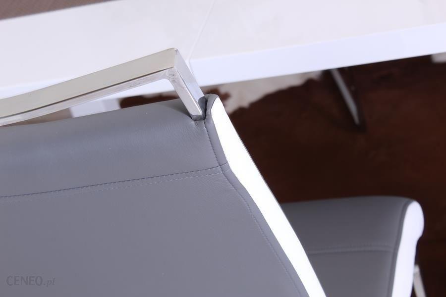 Aropos1 Nowoczesne Krzesło Na Płozach Tango Szaro Białe