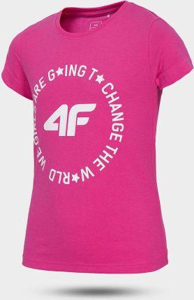 Koszulka z długim rękawem dla dziewcząt 4F J4Z17 JTSDL104