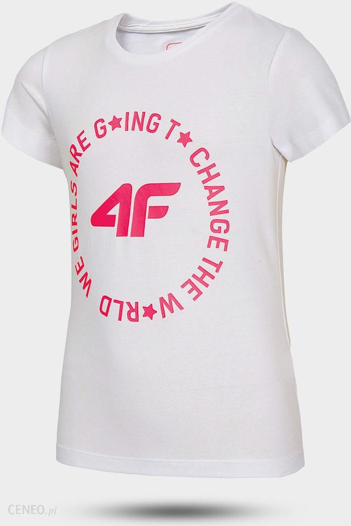 Koszulka dziewczęca 4F HJL20 JTSD013A 10S biały