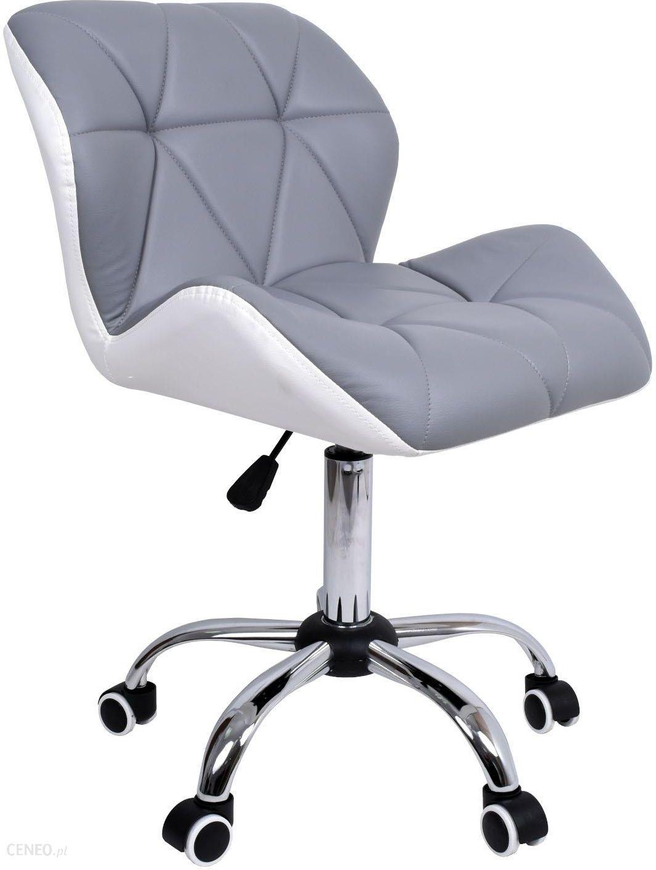 Krzesło biurowe szaro zielone obrotowe fotel komputerowy