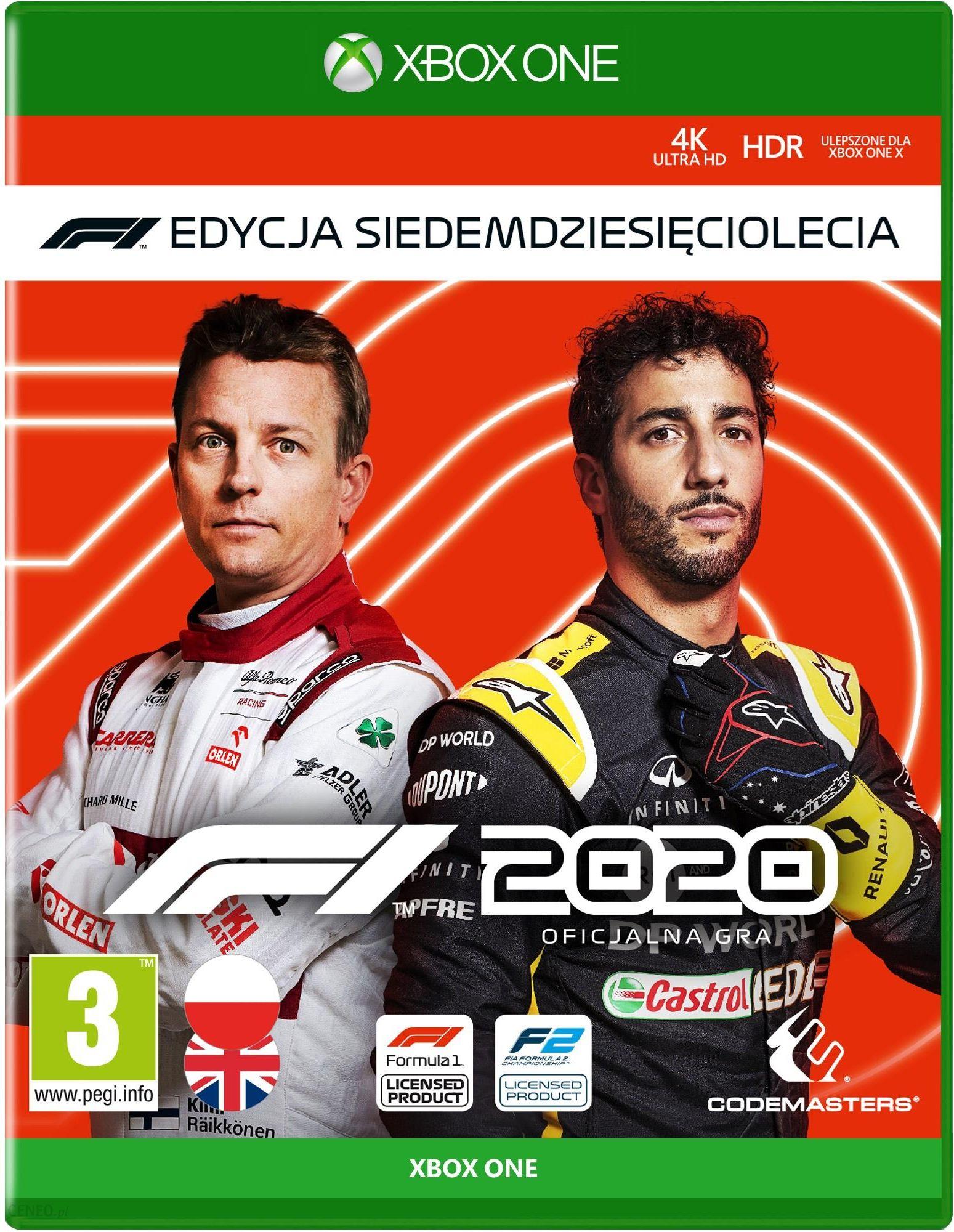 F1 2020 Edycja Siedemdziesieciolecia Gra Xbox One Od 239 00 Zl Ceny I Opinie Ceneo Pl
