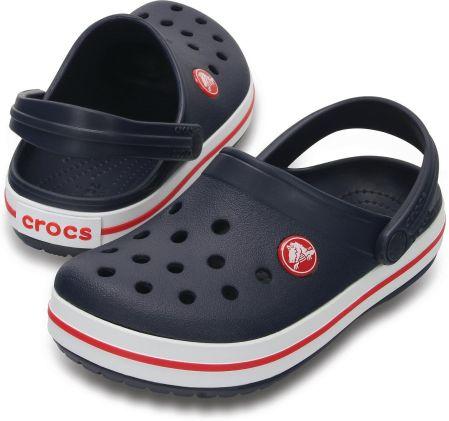 Crocs Kids Crocband Ocean Red Niebiesko czerwone klapki dla