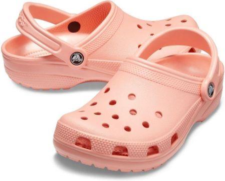 Crocs różowe klapki na platformie Crocband Platform Clog