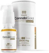 CANNABIGOLD PREMIUM olejek CBD 1500 MG (15%) 12 ml + CANNABIGOLD SMART 10mg 2 kaps