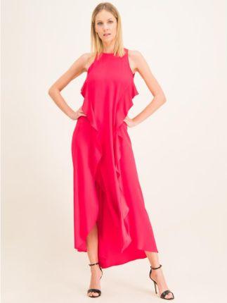 Numoco Sukienka ze Wzorem w Kwiaty Wiązana w Pasie Ceny i