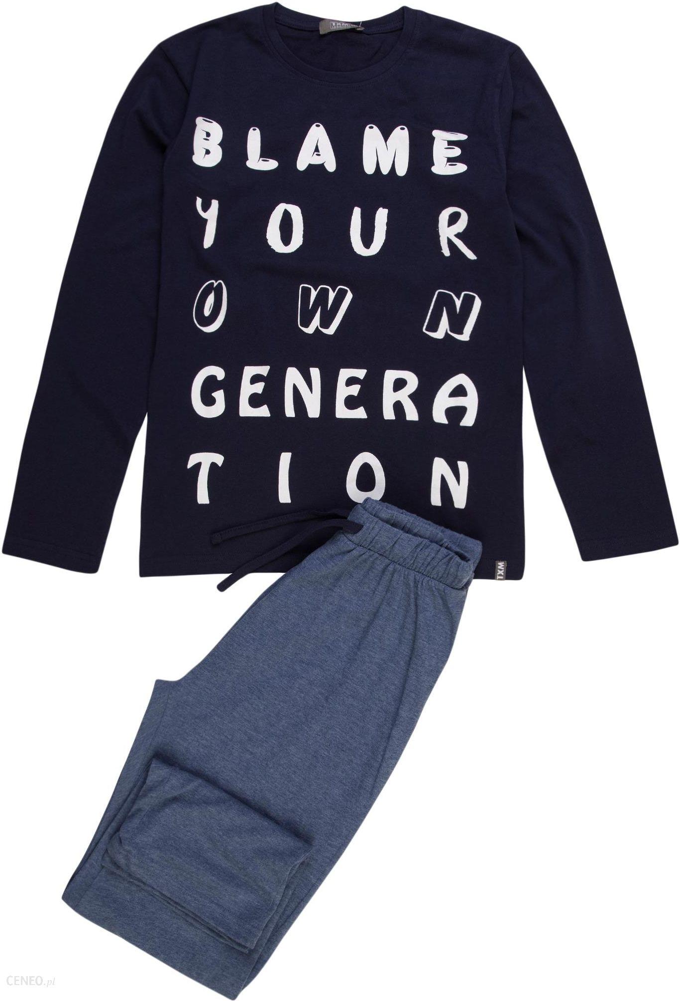 TXM Piżama chłopięca z krótkim rękawem 152 GRANATOWY Ceny