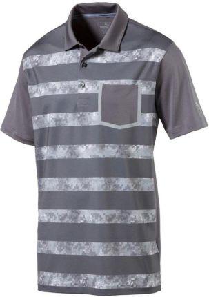 Puma Tailored Camo Stripe Koszulka Polo Do Golfa Męska Quiet Shade XS - Ceny i opinie T-shirty i koszulki męskie OXJQ