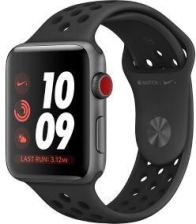 Produkt z Outletu: Apple Watch Nike GPS + Cellular 38mm (czarny)