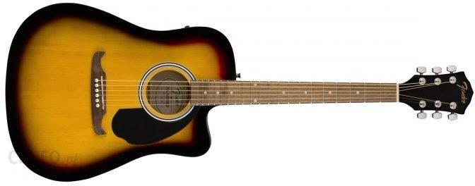 """""""Fender Fa-125 Ce Dread Sb Sunburst"""" akustinė elektrinė gitara"""
