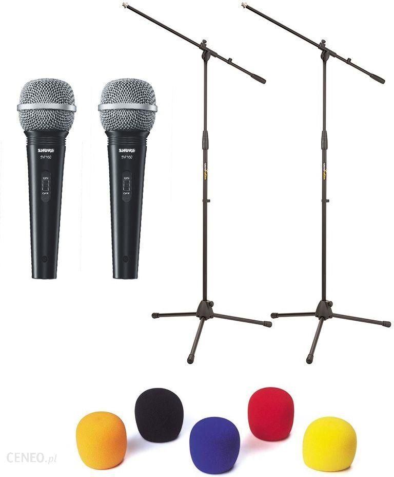 Mikrofon Shure 2x Sv 100 Zestaw Mikrofonow Akcesoria Ceny I Opinie Ceneo Pl