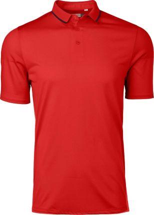 Kjus X-Stretch Lionel Mens Polo Shirt Jungle Red 50 - Ceny i opinie T-shirty i koszulki męskie YBCM