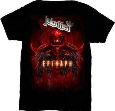 Judas Priest Epitaph Red Horns Mens T Shirt: L