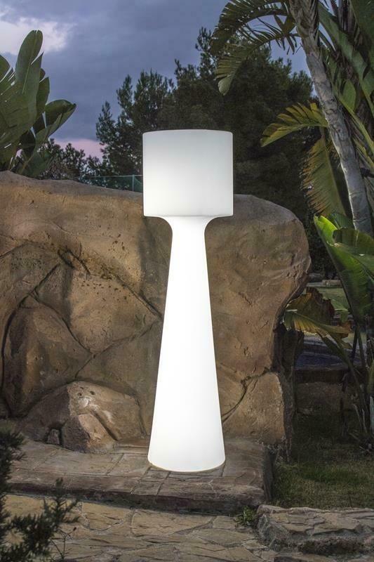 New Garden Lampa Ogrodowa Grace 140 B Biała Led Wbudowana Bateria (LUMGC140WLNW)