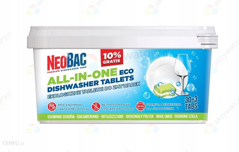 """""""NeoBac"""" ekologiškos tabletės indaplovėms """"Eco 30 + 3s""""."""