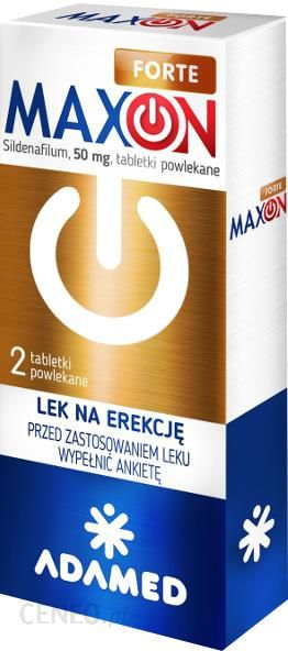 MaxOn Active 25 mg 2 tabletki powlekane / Potencja - Potencja - Seks i potencja - fitz-roy.pl