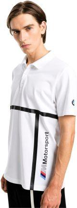 KOSZULKA POLO PUMA BMW MMS POLO 57779002 - biały - Ceny i opinie T-shirty i koszulki męskie UCXW