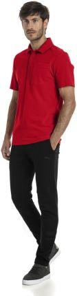 Koszulka Polo Puma Ferrari 57668501 - czerwony - Ceny i opinie T-shirty i koszulki męskie TCEK